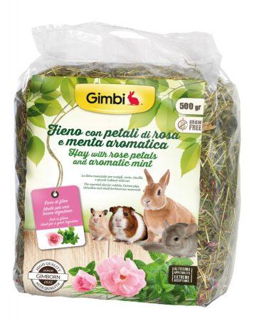 Gimbi széna rózsaszirmokkal és mentával 500g