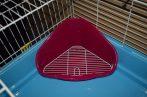 TP  sarok WC ráccsal kisemlősöknek  35X24X19 cm/ciklámen