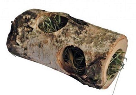 Fogkoptató fatörzs szénával töltve 10 cm