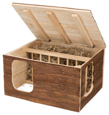 Trixie természetes faház beépített szénatartóval