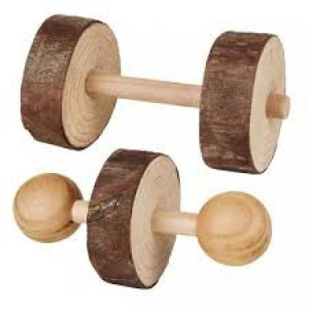 Trixie játék súlyzó fából  9× 4,5cm