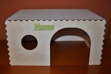 Fa nyuszi ház, búvóhely /  zöld
