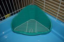 TP  sarok WC ráccsal kisemlősöknek  35X24X19 cm/zöld