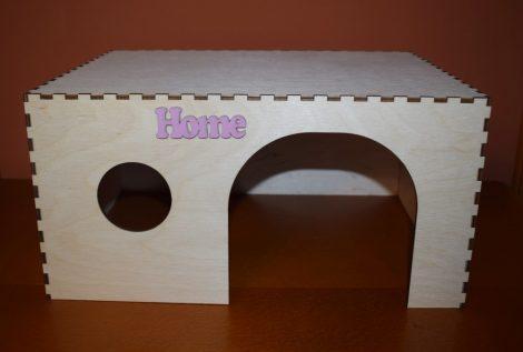 Fa nyuszi ház, búvóhely /  rózsaszín