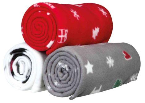 Trixie Karácsonyi  mintás, gyapjú takaró